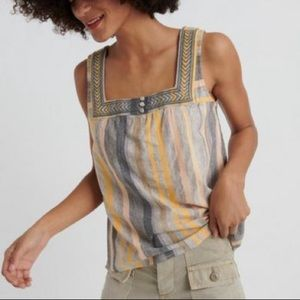 LUCKY BRAND Square Neck Tank